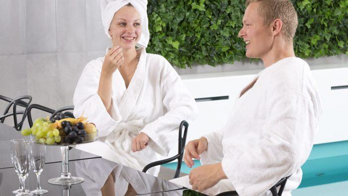 Private sauna with a view to Tallinn Old Town - Health Centre Club 26 at Radisson Blu Hotel Olümpia, Tallinn