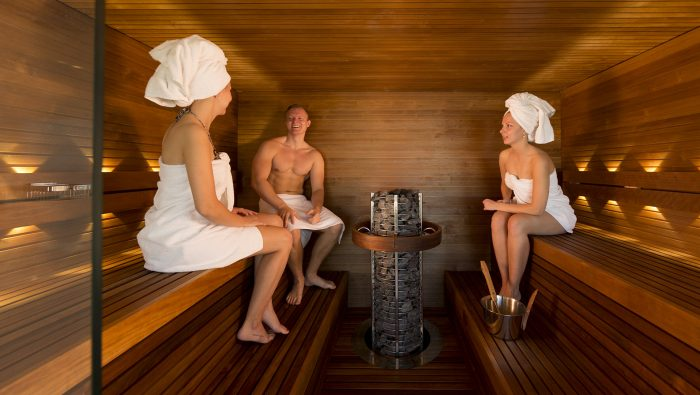 Private sauna with a view to Tallinn Old Town - Health Centre Club 26 at Radisson Blu Hotel Olümpia, Tallinn