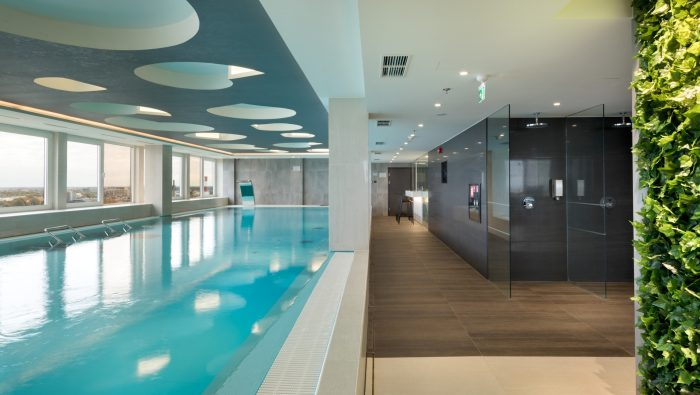 Pool with a view - Fitness Centre Club 26 at Radisson Blu Hotel Olümpia, Tallinn